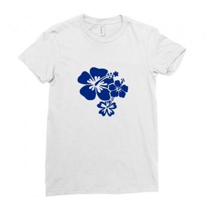 Hibiscus Flowers Ladies Fitted T-shirt Designed By Teeshop