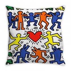 DANCE TOGETHER - KEITH HARING Throw Pillow | Artistshot