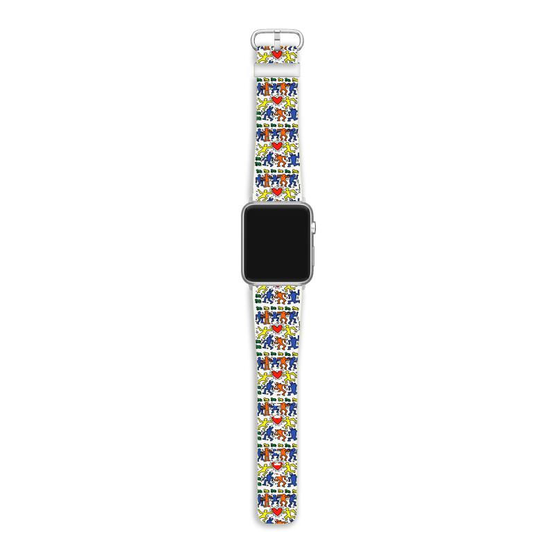 Dance Together - Keith Haring Apple Watch Band | Artistshot