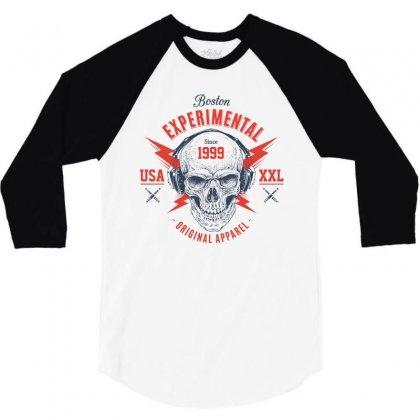 Boston Usa Original Apparel 3/4 Sleeve Shirt Designed By Designisfun
