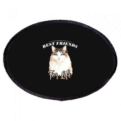 Best Friends For Life Oval Patch Designed By Wizarts