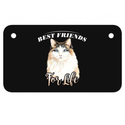 Best Friends For Life Motorcycle License Plate Designed By Wizarts