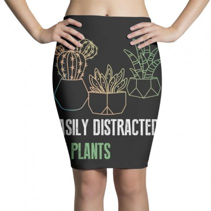 Easily Distracted By Plants Pencil Skirts Designed By Wizarts