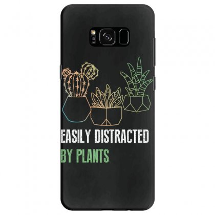 Easily Distracted By Plants Samsung Galaxy S8 Case Designed By Wizarts