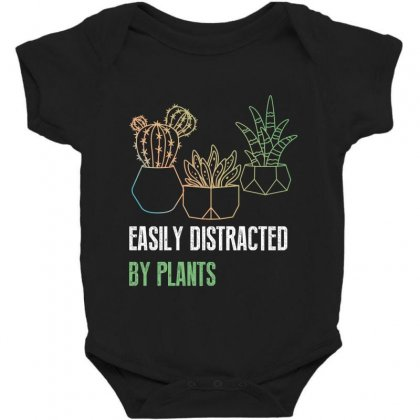 Easily Distracted By Plants Baby Bodysuit Designed By Wizarts