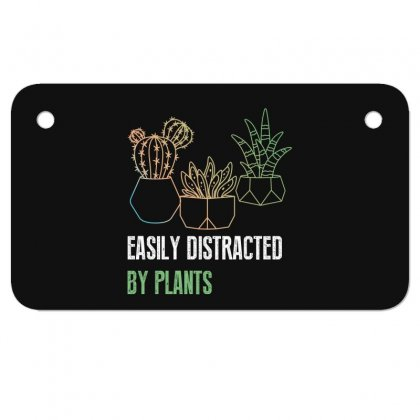 Easily Distracted By Plants Motorcycle License Plate Designed By Wizarts