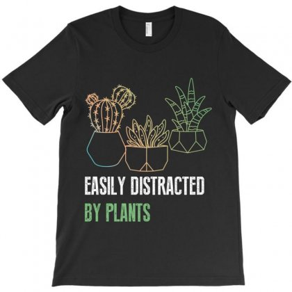 Easily Distracted By Plants T-shirt Designed By Wizarts
