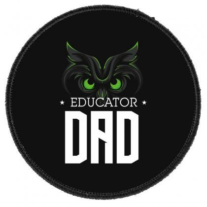 Educator Dad Round Patch Designed By Wizarts