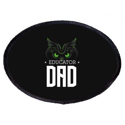 Educator Dad Oval Patch Designed By Wizarts
