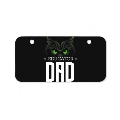 Educator Dad Bicycle License Plate Designed By Wizarts