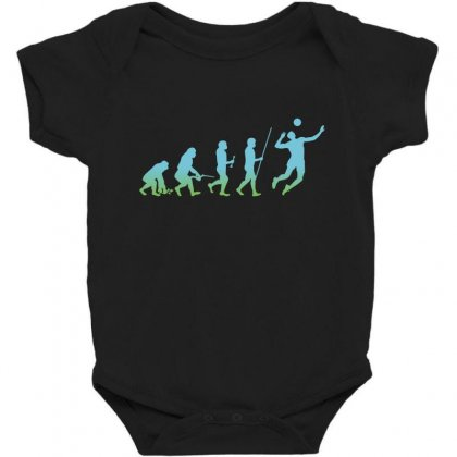 Evolution Volleyball Baby Bodysuit Designed By Wizarts