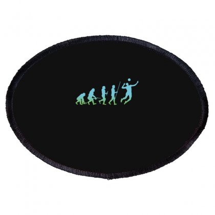 Evolution Volleyball Oval Patch Designed By Wizarts