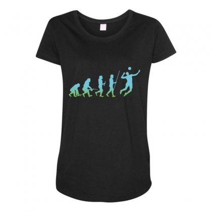 Evolution Volleyball Maternity Scoop Neck T-shirt Designed By Wizarts
