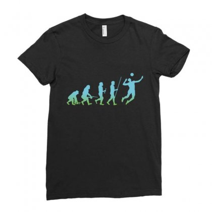 Evolution Volleyball Ladies Fitted T-shirt Designed By Wizarts