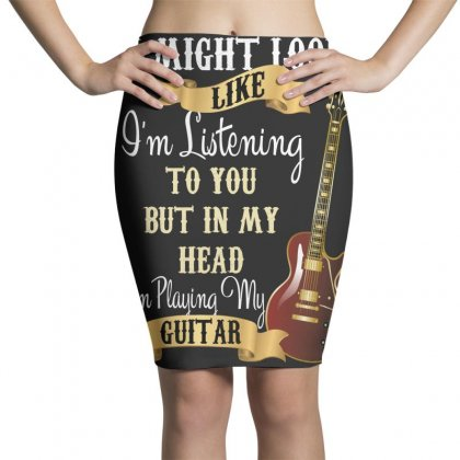 Guitar Pencil Skirts Designed By Wizarts