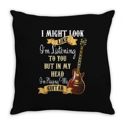 Guitar Throw Pillow Designed By Wizarts
