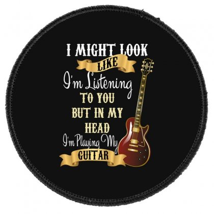 Guitar Round Patch Designed By Wizarts
