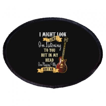 Guitar Oval Patch Designed By Wizarts