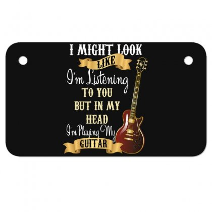 Guitar Motorcycle License Plate Designed By Wizarts