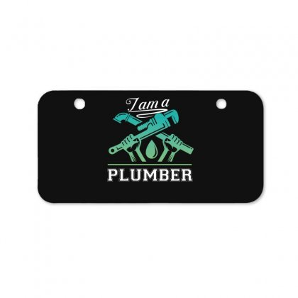 I Am A Plumber Bicycle License Plate Designed By Wizarts