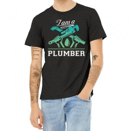I Am A Plumber Heather T-shirt Designed By Wizarts