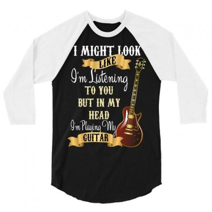 Guitar 3/4 Sleeve Shirt Designed By Wizarts