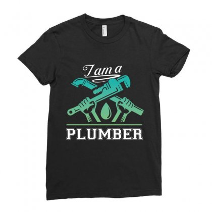 I Am A Plumber Ladies Fitted T-shirt Designed By Wizarts