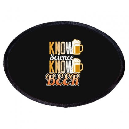 Know Science Know Beer Oval Patch Designed By Wizarts