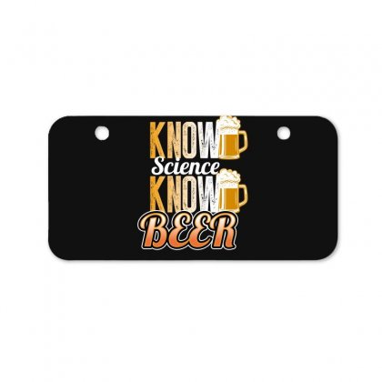 Know Science Know Beer Bicycle License Plate Designed By Wizarts