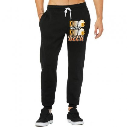 Know Science Know Beer Unisex Jogger Designed By Wizarts