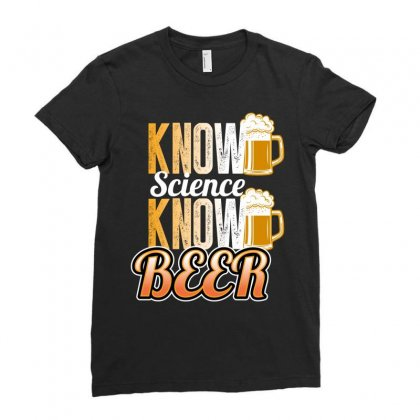 Know Science Know Beer Ladies Fitted T-shirt Designed By Wizarts