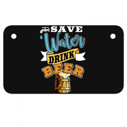 Save Water Drink Beer Motorcycle License Plate Designed By Wizarts
