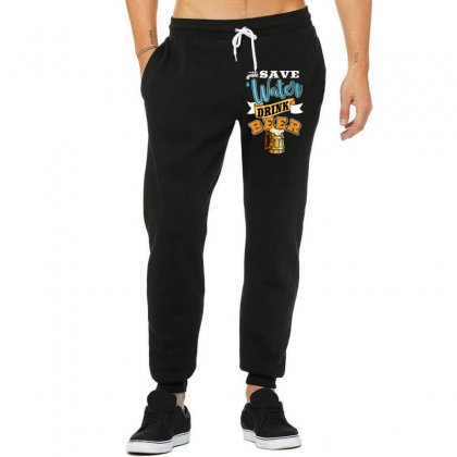 Save Water Drink Beer Unisex Jogger Designed By Wizarts