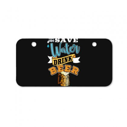 Save Water Drink Beer Bicycle License Plate Designed By Wizarts