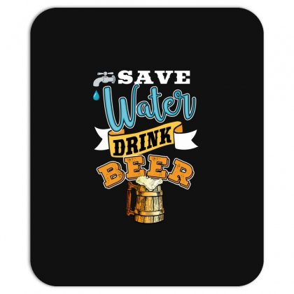 Save Water Drink Beer Mousepad Designed By Wizarts