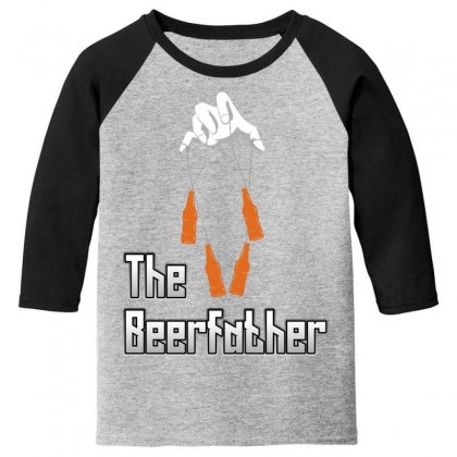 The Beerfather Youth 3/4 Sleeve Designed By Wizarts
