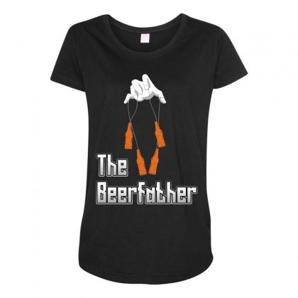 The Beerfather Maternity Scoop Neck T-shirt Designed By Wizarts