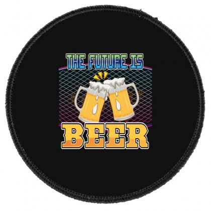 The Future Is Beer Round Patch Designed By Wizarts