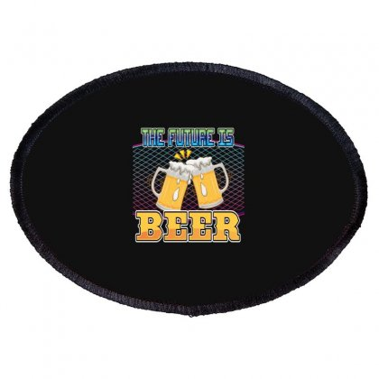 The Future Is Beer Oval Patch Designed By Wizarts