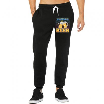The Future Is Beer Unisex Jogger Designed By Wizarts