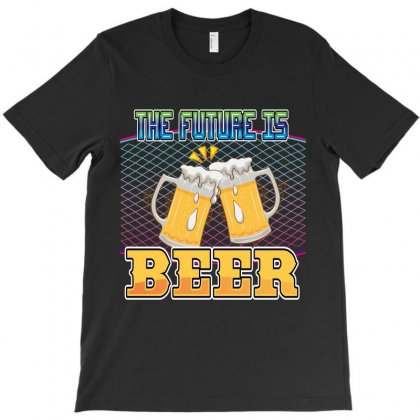 The Future Is Beer T-shirt Designed By Wizarts