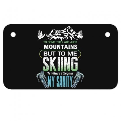 To Some They Are Just Mountains But To Me Skiing Motorcycle License Plate Designed By Wizarts