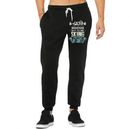 To Some They Are Just Mountains But To Me Skiing Unisex Jogger Designed By Wizarts