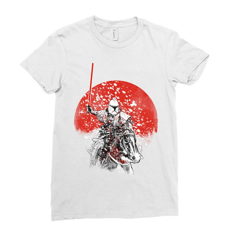 Samourai Trooper Ladies Fitted T-shirt | Artistshot