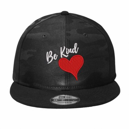 Be Kind Camo Snapback Designed By Madhatter