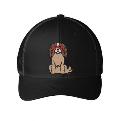 Dog In Love Embroidered Mesh Cap Designed By Madhatter
