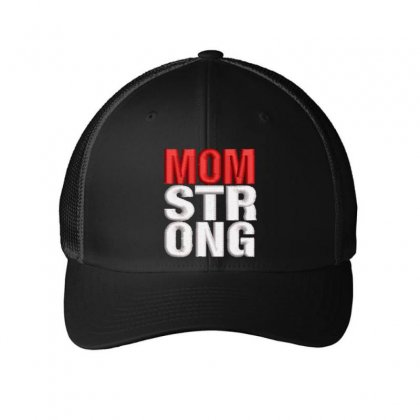 Mom Strong Embroidered Mesh Cap Designed By Madhatter