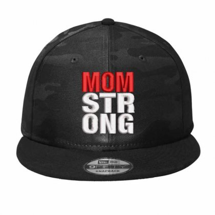 Mom Strong Camo Snapback Designed By Madhatter