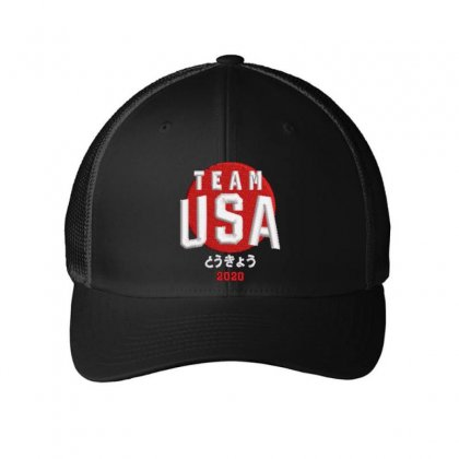 Team Usa 2020 Embroidered Mesh Cap Designed By Madhatter