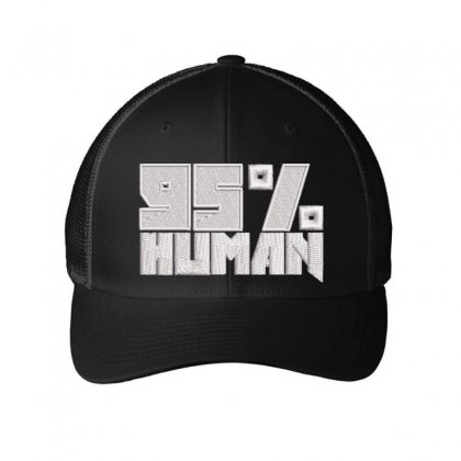 95% Human Embroidered Mesh Cap Designed By Madhatter